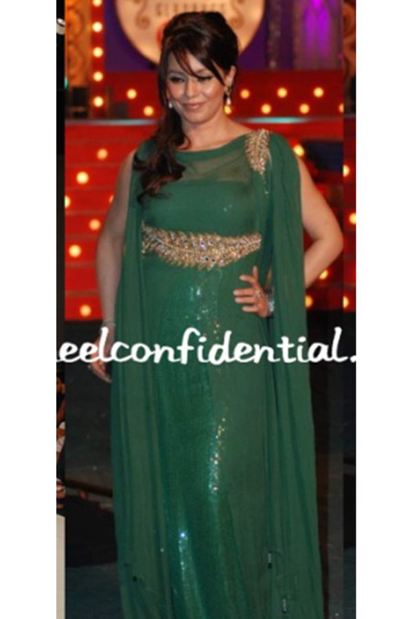 Mahima Chowdhury In Forest Green Fern Gown