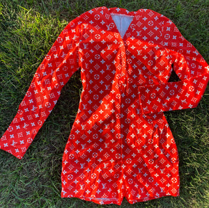Red LV Onesie