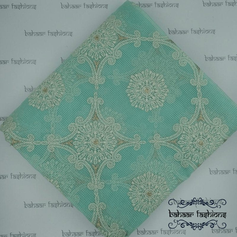 Bahaar Fashions Aqua Blue Cotton Dhuppata