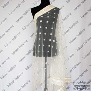 Bahaar Fashions Pearly White Dhuppata