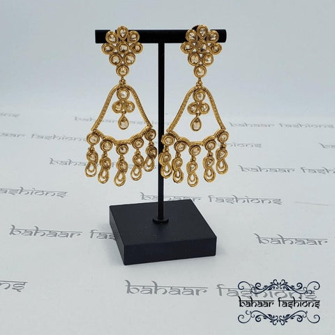Bahaar Fashions Polki Chandelier Earrings