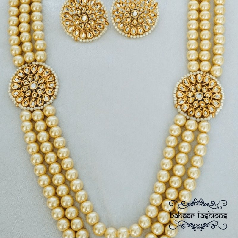 Bahaar Fashions Regal Pearl Necklace Set