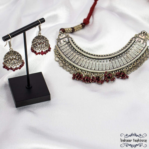 Bahaar Fashions Roza Necklace Set