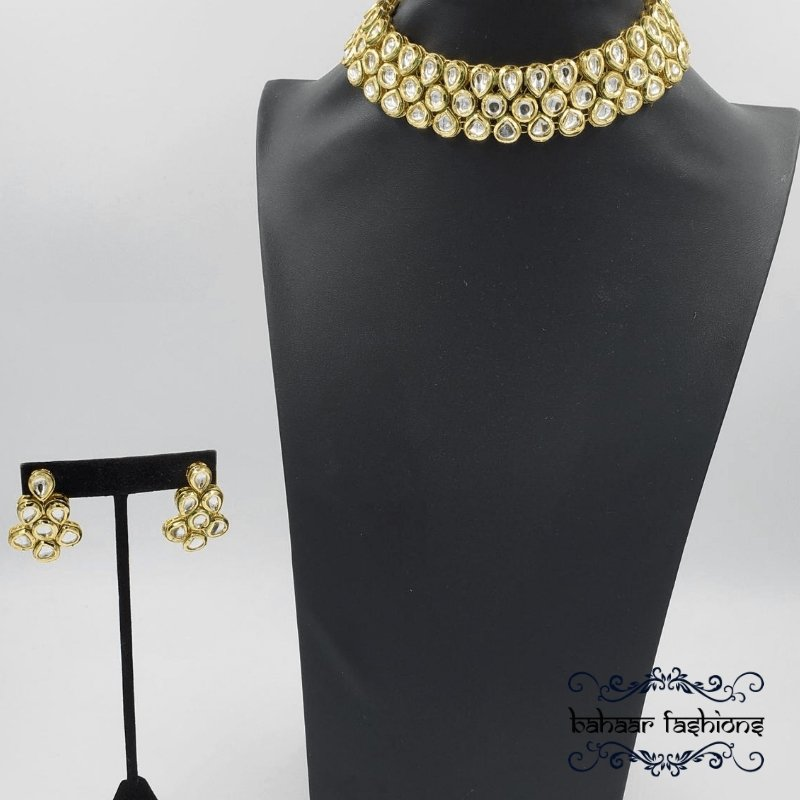Bahaar Fashions Simple Kundan Choker Set