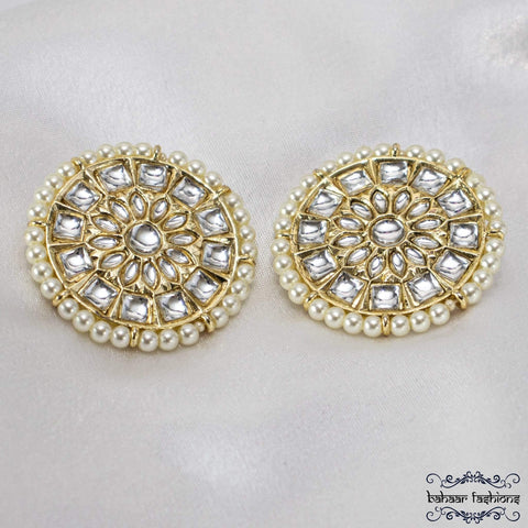 Bahaar Fashions Sparkling Kundan Earrings