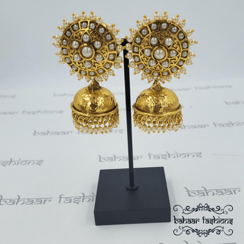 Bahaar Fashions Sunflower Jhumkis