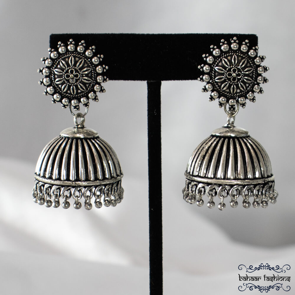 oxidized earrings Indian costume jewelry