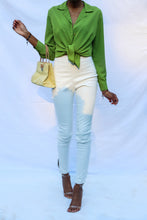 Load image into Gallery viewer, Green Silk Blouse