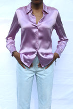 Load image into Gallery viewer, Lavender Silk Blouse