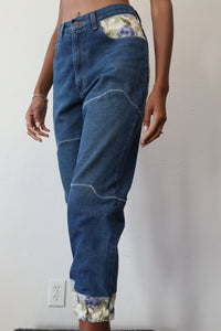 Jogger Style Patched Denim