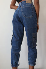 Load image into Gallery viewer, Jogger Style Patched Denim W/ Pockets