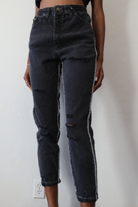 Jogger Style Denim W/ Exposed Seam