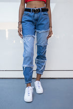 Load image into Gallery viewer, DenimBlock Distressed Joggers
