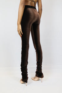 Hersey's Velvet Stacked Pants