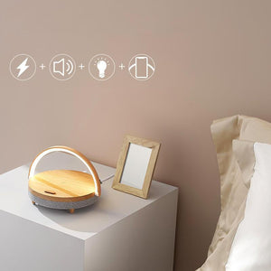 Wireless Charging Bluetooth Speaker + Table Light