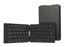 Load image into Gallery viewer, Leather Wrapped Wireless BT Keyboard