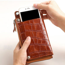 Load image into Gallery viewer, Genuine Leather iPhone Wallet