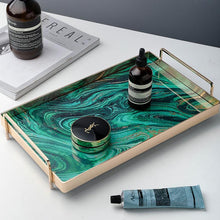 Load image into Gallery viewer, Rectangular Luxury Serving tray