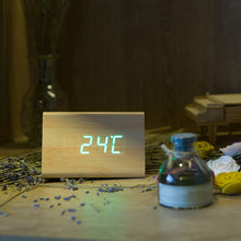 Load image into Gallery viewer, Bamboo Wood Alarm Clock