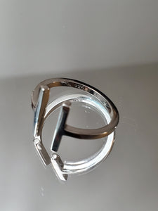 Solid Parallel Sterling Silver Ring