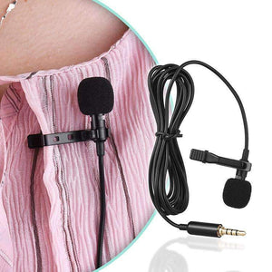 AMZER 1.5m Lavalier Wired Recording Microphone Mobile Phone Karaoke
