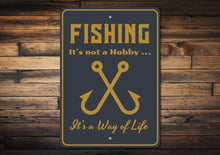 Load image into Gallery viewer, Fishing Hobby Sign