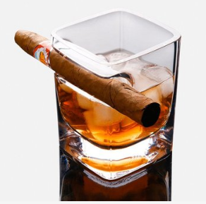 Creative whisky cigar glass