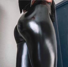 Load image into Gallery viewer, Reflective leather leggings