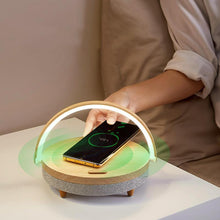 Load image into Gallery viewer, Wireless Charging Bluetooth Speaker + Table Light