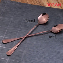 Load image into Gallery viewer, 4 Colors Stainless Steel Spoons