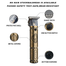 Load image into Gallery viewer, Professional Barber Gold Hair Clipper