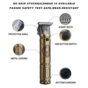 Professional Barber Gold Hair Clipper
