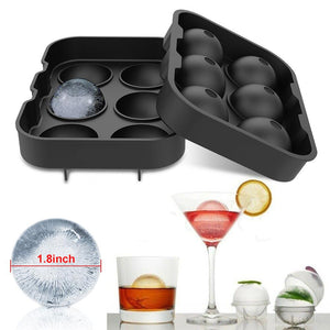 6 Ice Ball Maker Silicone Mold Sphere Mould Round Tray Party Bar