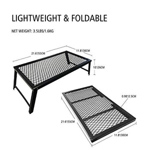 Folding Campfire Grill, Portable and Heavy Duty Camp Grill Grate