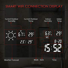 Load image into Gallery viewer, 6000k LED Vanity Smart Mirror with Weather Forecast, Defogging, Touchscreen