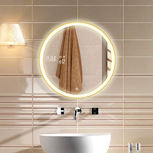 6000k LED Vanity Smart Mirror with Weather Forecast, Defogging, Touchscreen