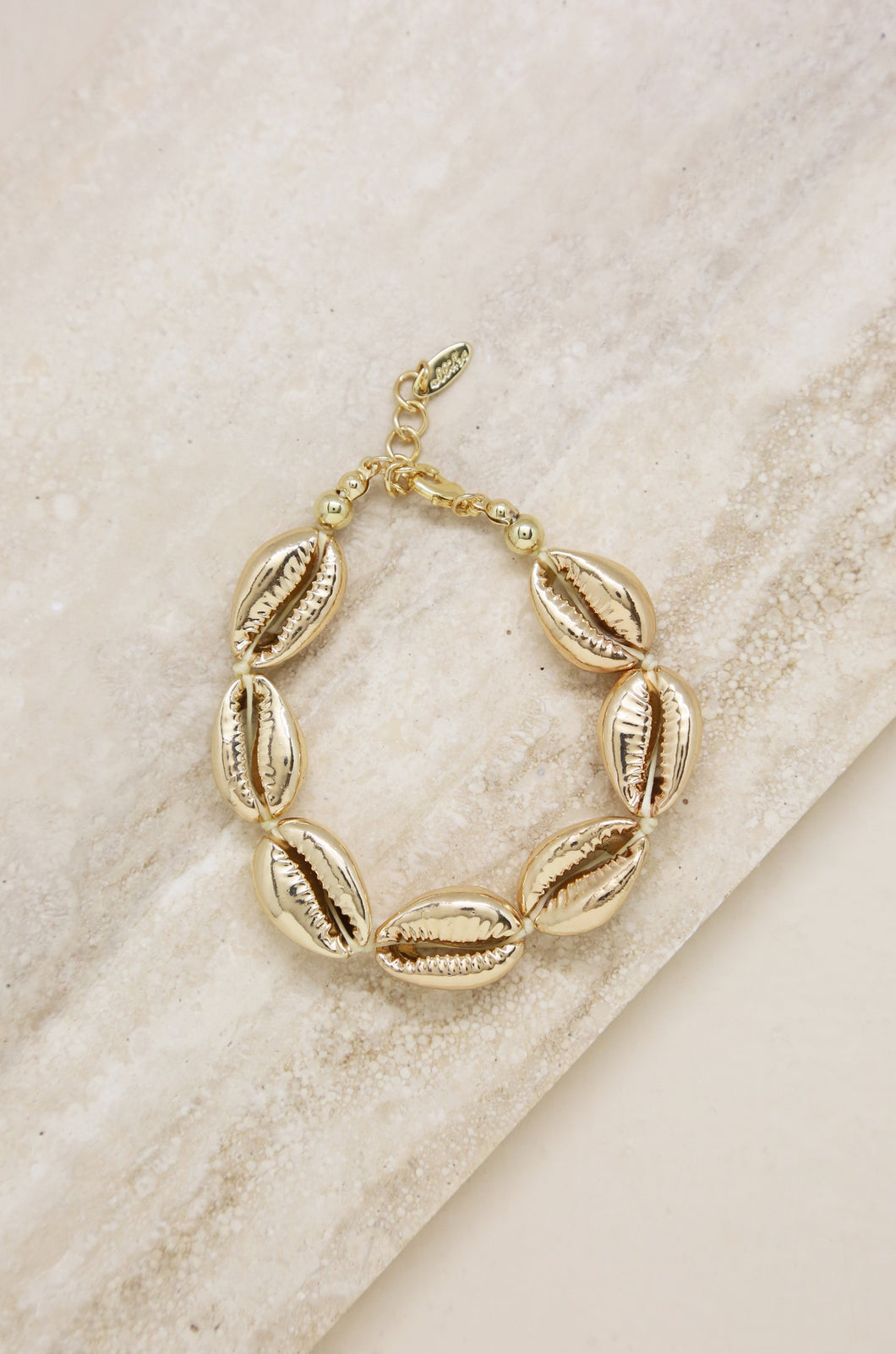 Seven Shells 18k Gold Plated Bracelet