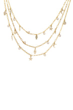Load image into Gallery viewer, Mystic Triple Layer Choker in Gold
