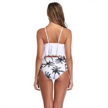 Load image into Gallery viewer, White Palm Tree Tankini Set