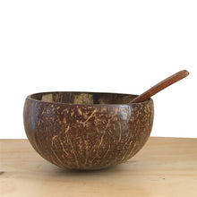 Load image into Gallery viewer, Creative Natural Coconut Wood Bowl Eco Friendly Fruit Salad Noodles