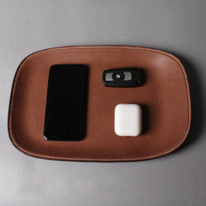 High End Heirloom Leather Trays