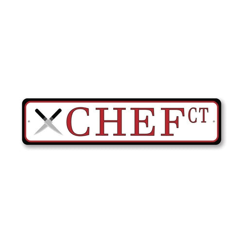 Chef Court Street Sign