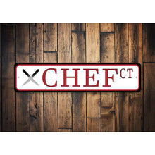 Load image into Gallery viewer, Chef Court Street Sign