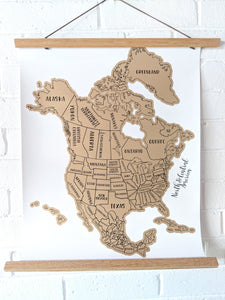 Scratch Your Travels North & Central America Map