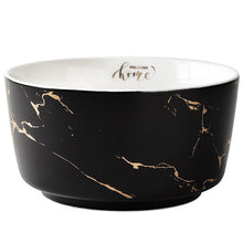 Load image into Gallery viewer, Marble Ceramic Bowl Home Tableware Set Nordic