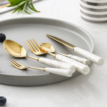 Load image into Gallery viewer, Marble Ceramic Cutlery