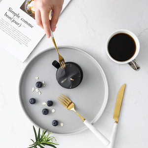 Marble Ceramic Cutlery