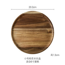 Load image into Gallery viewer, Rustic Wooden Cake Dish