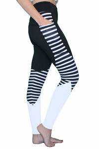 Pocket Pant Leggings Stipped