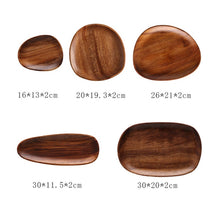 Load image into Gallery viewer, Whole Wood Oval Plates